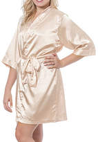 Cathy's Concepts Cathys Concepts Personalized Womens Satin Kimono 3/4 Sleeve Short Length Robes