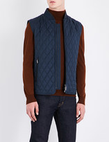 Brioni Quilted wool and silk-blend gilet