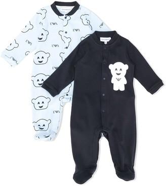 Emporio Armani Kids All-Over Print Pajamas