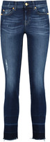 7 For All Mankind Roxanne mid-rise distressed skinny jeans