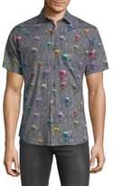 Jared Lang Bicycle Short Sleeve Button Down Shirt