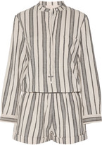 Vanessa Bruno Geza Cotton-jacquard Playsuit - Beige
