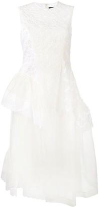 Simone Rocha Frill Floral Patchwork Dress