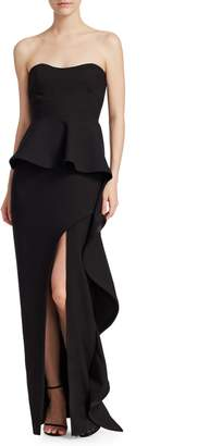 Elizabeth and James Clair Peplum Gown