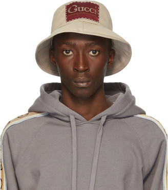 Gucci Beige Label Bucket Hat