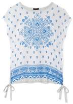 Vince Camuto Medallion-print Mixed-material Top