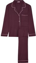 Eberjey Gisele Stretch-modal Jersey Pajama Set - Burgundy