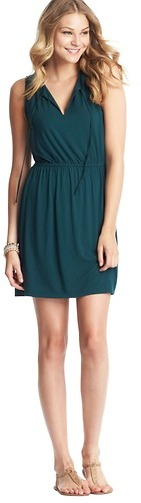 LOFT Tie Neck Sleeveless Dress