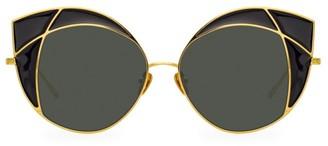 Linda Farrow 856 C1 Cat Eye Sunglasses