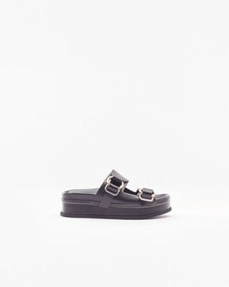 3.1 Phillip Lim Freida double-buckle platform slides