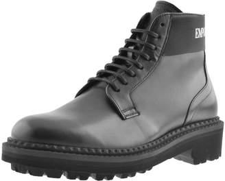 Giorgio Armani Emporio Leather Boots Black