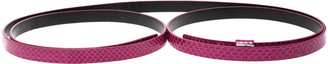 Diane von Furstenberg Fuchsia Python Haley Double Wrap Belt Medium