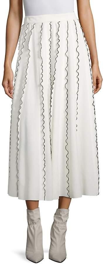 Derek Lam Women's Ruffle Midi Skirt