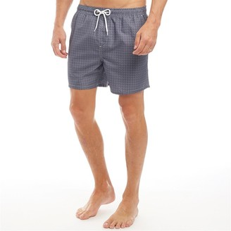 clear Onfire Mens All Over Print Swim Shorts Navy