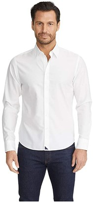 UNTUCKit Wrinkle-Free Las Cases Shirt (White) Men's Long Sleeve Button Up