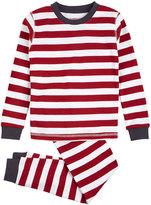 Petit Lem Two-Piece Striped Top & Pants Set, Red, Size 4-7