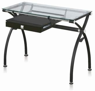 Ruven Glass Desk Orren Ellis Color: Black
