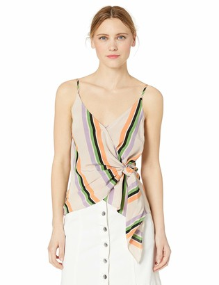 ASTR the Label Women's Landon Sleeveless Wrap Tie Front Tank Top