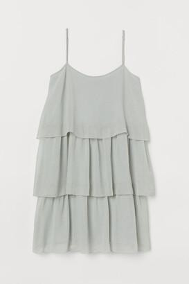 H&M Short Tiered Dress - Green