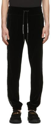 Versace Jeans Couture Black Velour Logo Track Pants