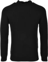 Edwin Purl Knit Jumper Black