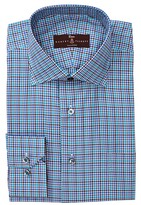 Robert Talbott Classic Fit Windowpane Print Dress Shirt