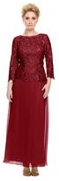 Nox Anabel - 5103 Quarter Sleeve Bateau Illusion Dress