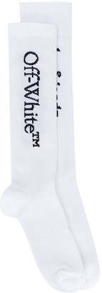 Off-White Boyfriends Long Socks White Black