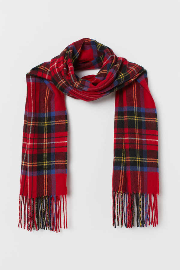 H&M Scarf with Printed design - Red