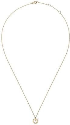 Georg Jensen 18kt yellow gold Halo brilliant cut diamond pendant necklace