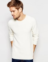 Selected Textured Knitted Crew Neck Sweater
