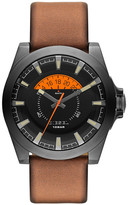 Diesel Men&s Arges Leather Strap Watch