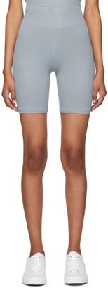 rag & bone Blue 'The Knit Rib' Bike Shorts