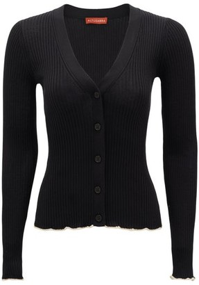 Altuzarra Hartwell V-neck Silk Cardigan - Womens - Black