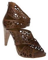 B. Makowsky Leather Cross Strap Cut-Out Heels