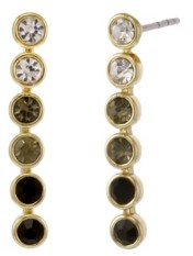 Christian Siriano New York Christian Siriano Gold Tone Linear Stone Earrings