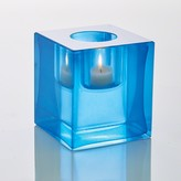 The Well Appointed House Global Views Block T-Lite Candle Holder in Blue
