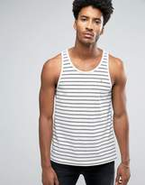 Farah Fistrell Stripe Vest In Off White Stripe