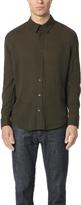 Vince Long Sleeve Wool Gauze Shirt
