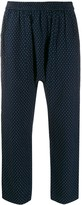 Raquel Allegra Sunday denim jacquard trousers