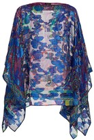 Etro Silk-Blend Embroidered Floral Poncho
