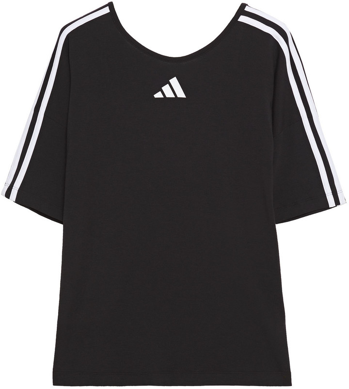 adidas Printed Stretch Cotton And Modal-blend Jersey T-shirt