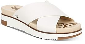 Sam Edelman Women's Audrea Slip On Cross Band Wedge Sandals