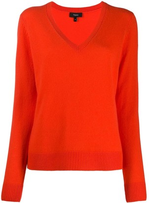 Theory V-neck fine knit jumper