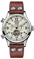 Ingersoll Men's Automatic Stainless Steel and Leather Casual Watch, Color:Brown (Model: I02101)