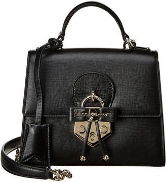 Salvatore Ferragamo Top Handle Leather Crossbody