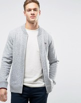 Jack and Jones Zip Through Bomber Sweat With Chest Logo