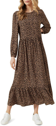 French Connection Animal Tiered Dress