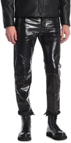 Diesel Mharky Straight Leg Leather Pants