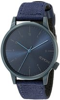 Komono Unisex KOM-W2111 Winston Heritage Series Stainless Steel Watch With Blue Canvas Band